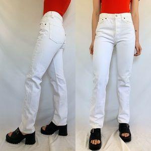Vintage 80s Levi's 501 White Button Fly Jeans